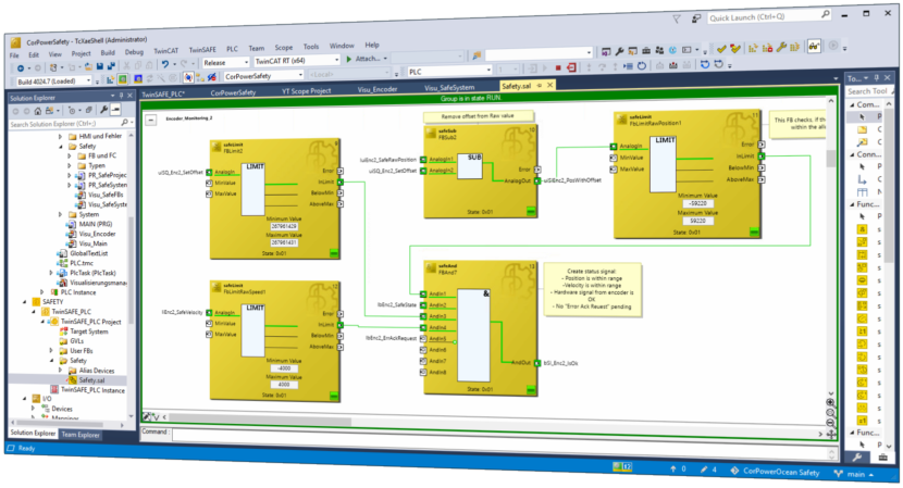 Software Entwicklung mit TwinCAT und TwinSAFE Safety