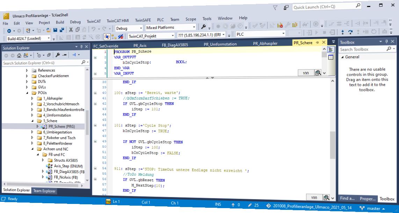 Software Engineering mit TwinCAT 3 und TwinCAT HMI